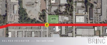 the BRINC site mapped on to Transit plan