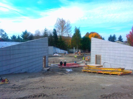 First Walls up of the new BYT Theater
